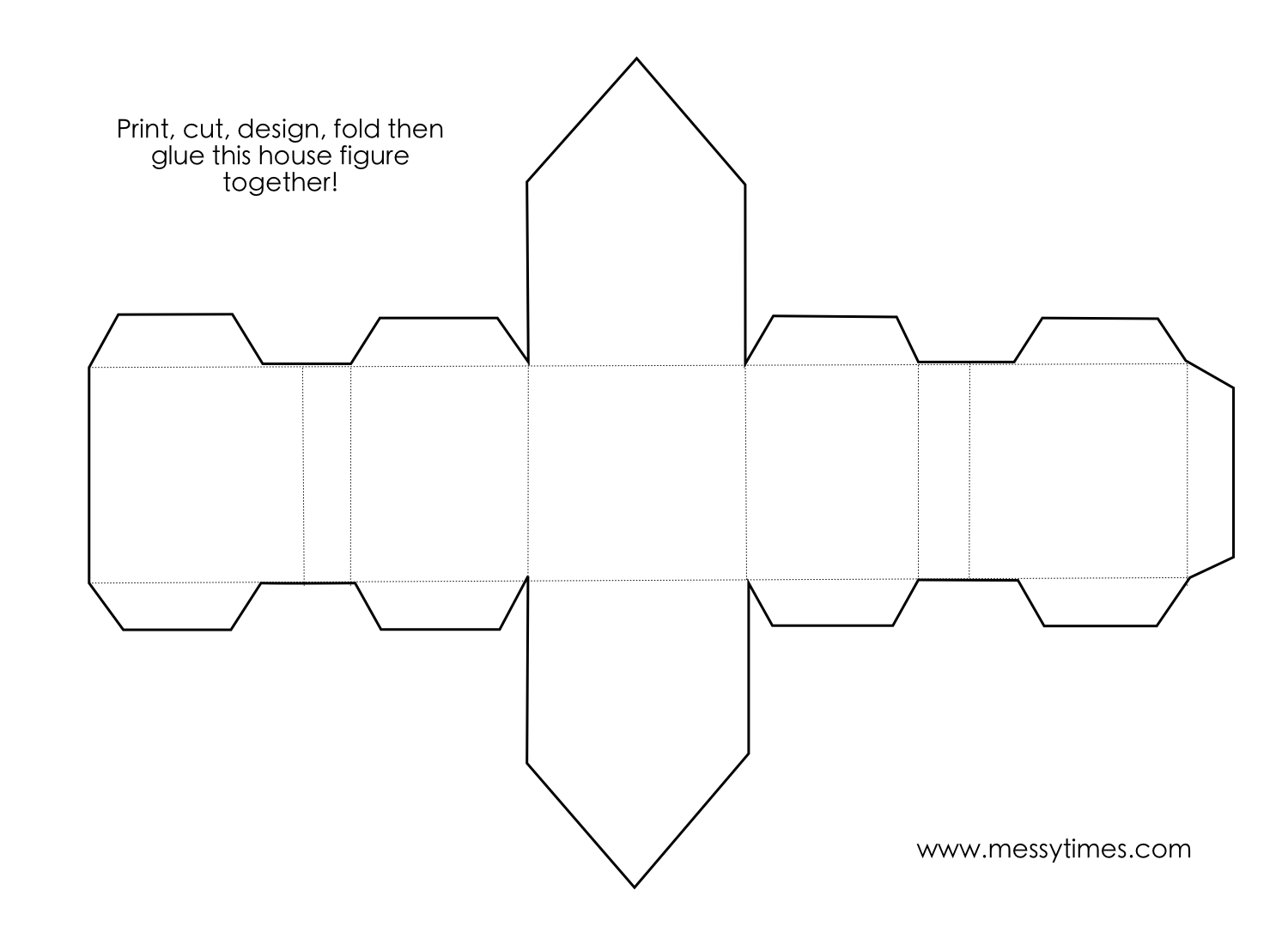 A 3d House Object To Cut Design Fold And Glue Together