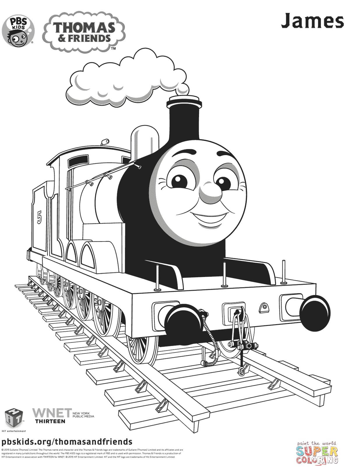 Thomas The Tank Engine Coloring Pages James
