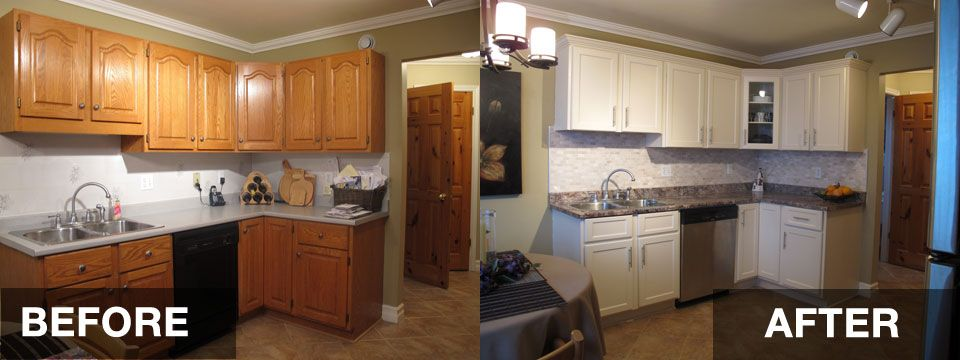 Reface Kitchen Cabinets Before And After Hac0 Dream Home Pinterest Refacing Kitchen