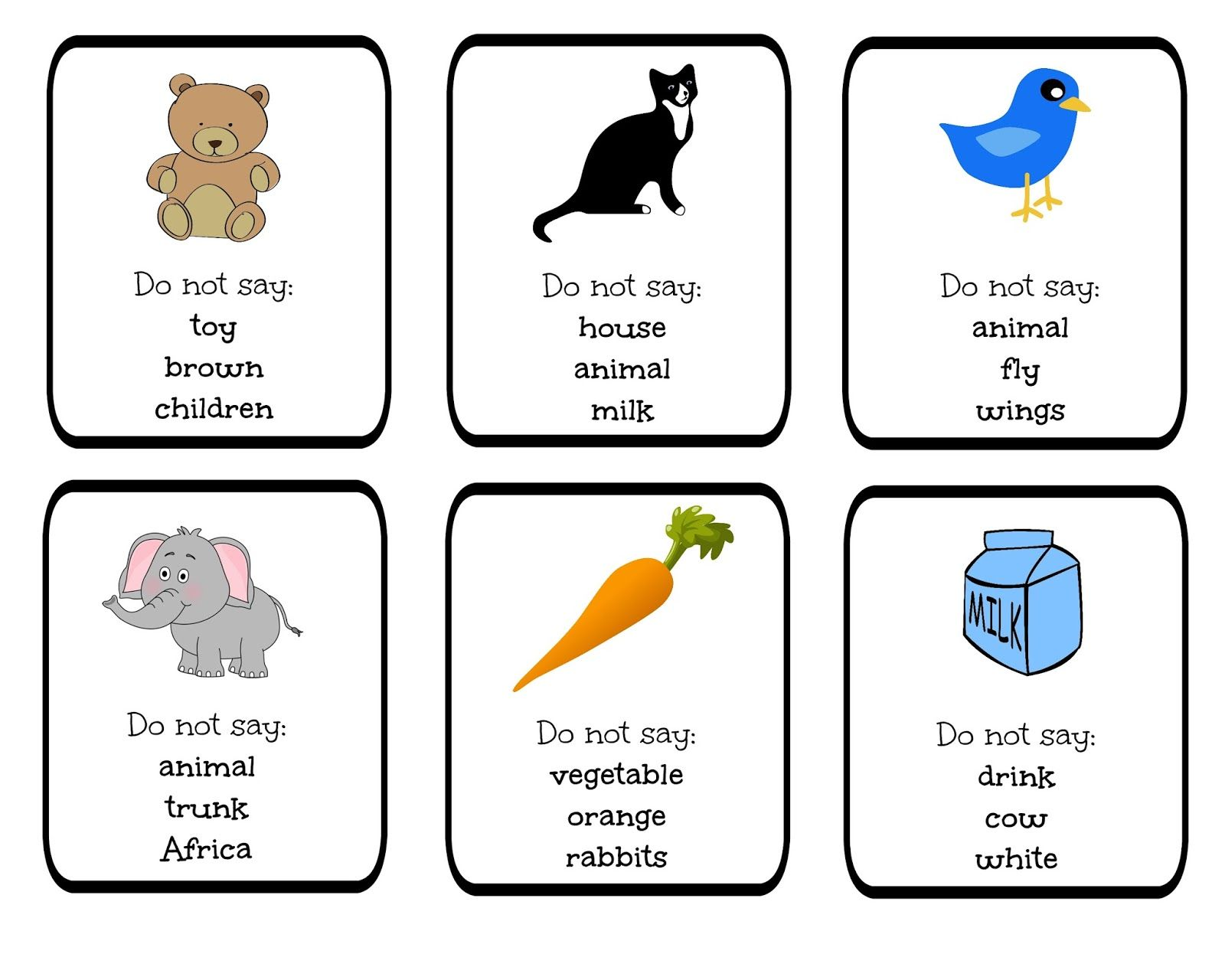 Funglish Taboo Blog Cards Games Do Not Say Vocabulary