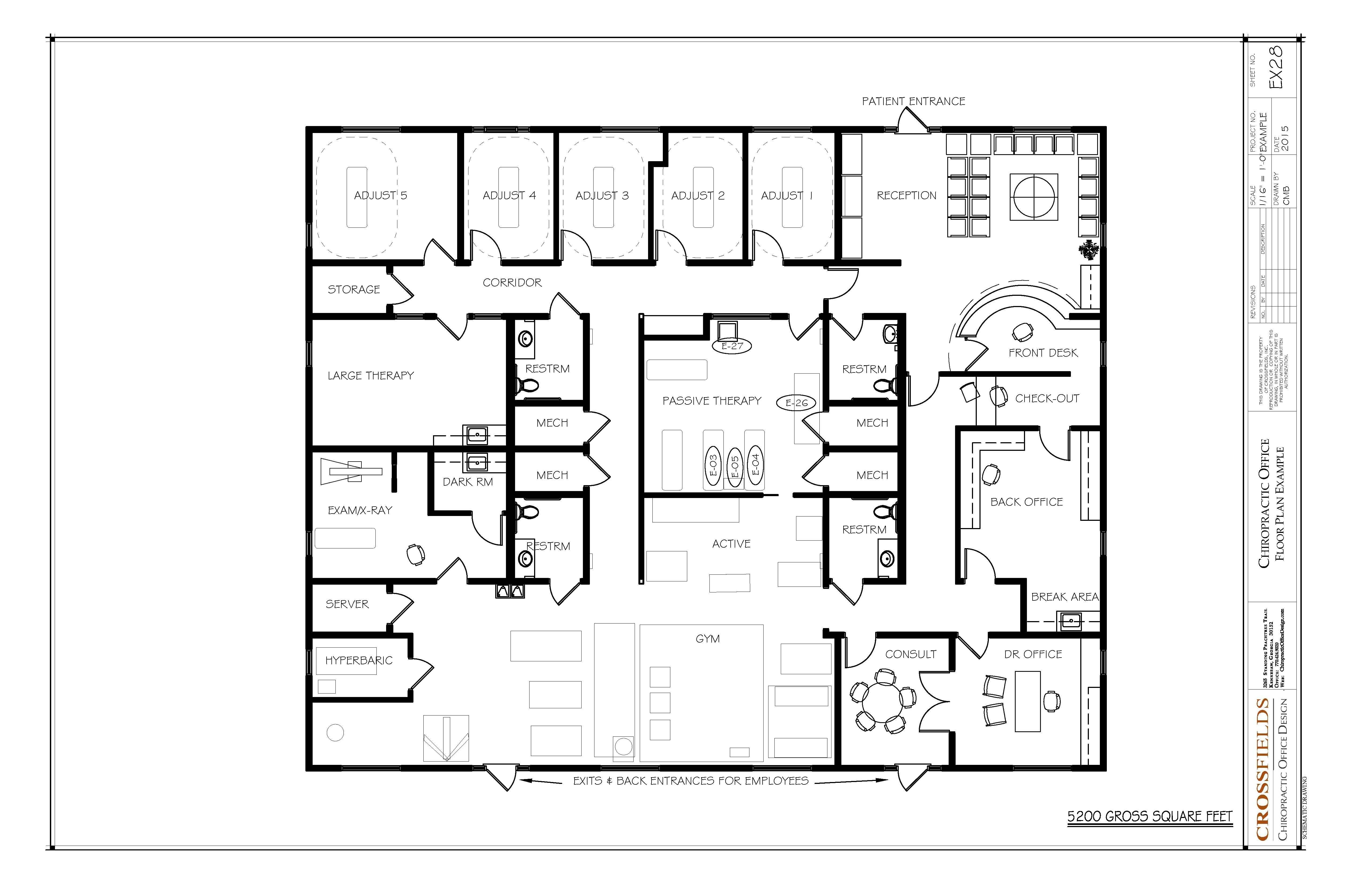 Chiropractic Office Floorplan Layout Chiropractic