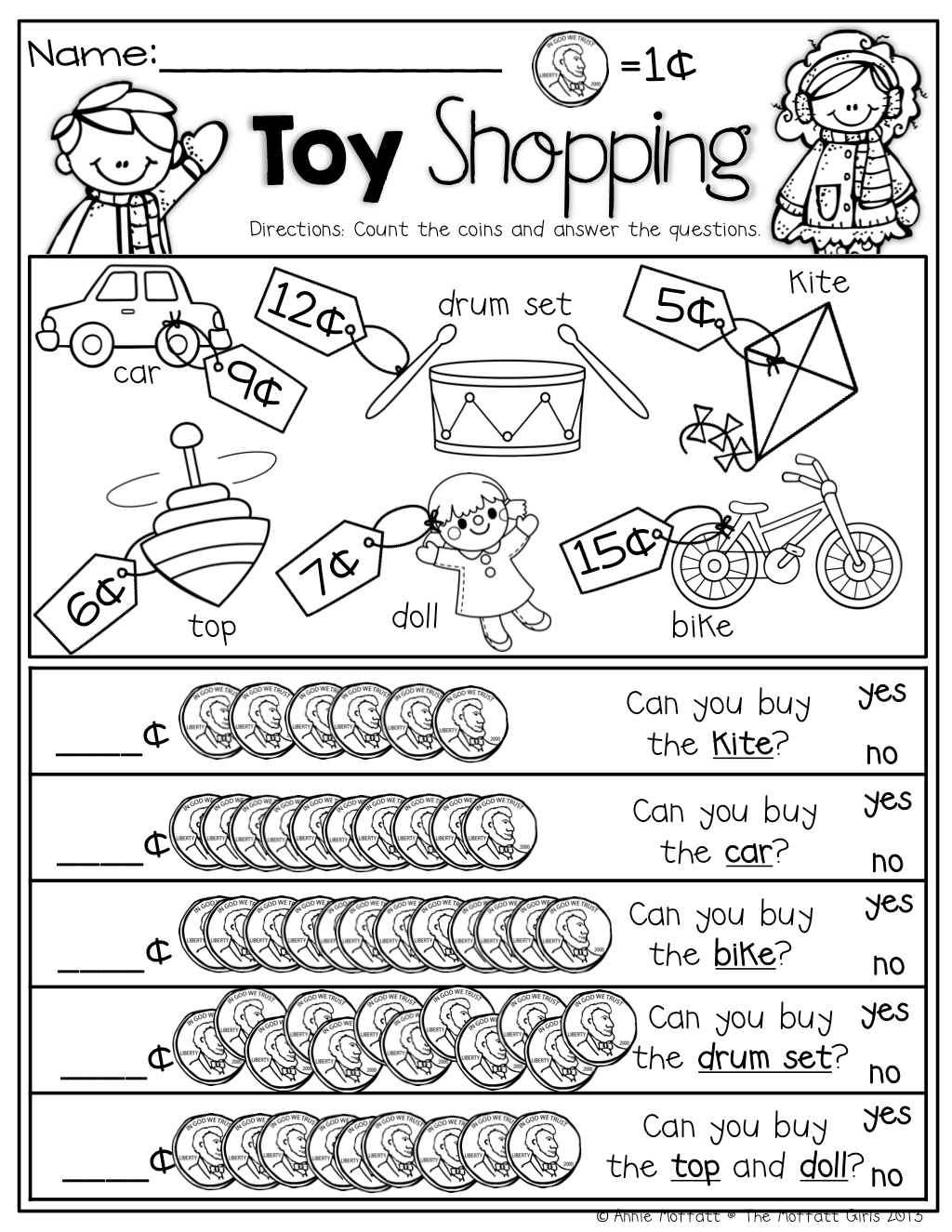 Worksheet On Counting Coins