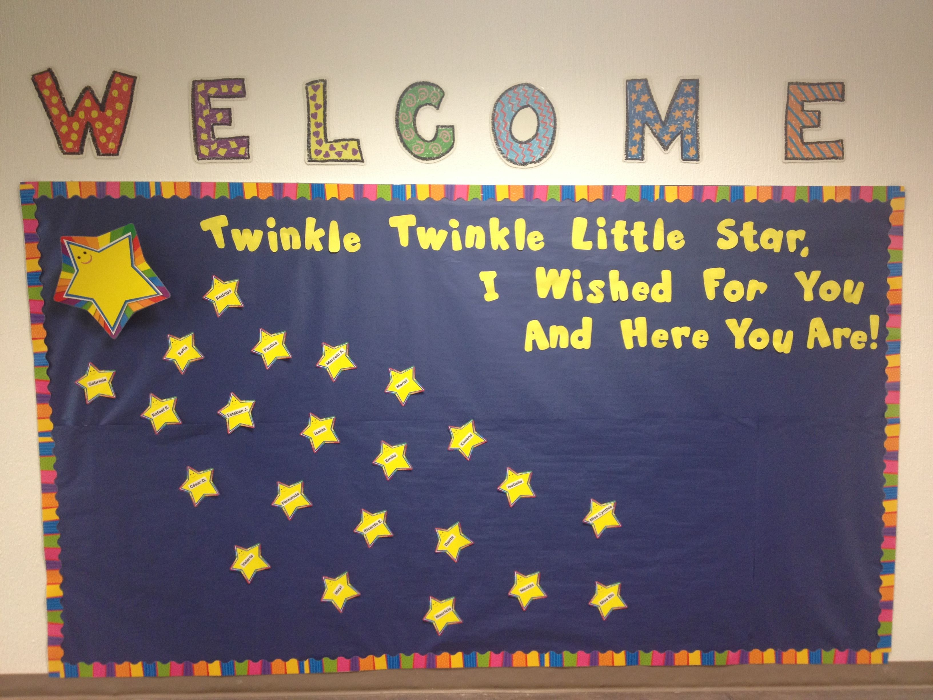 Twinkle Twinkle Little Star Bulletin Board