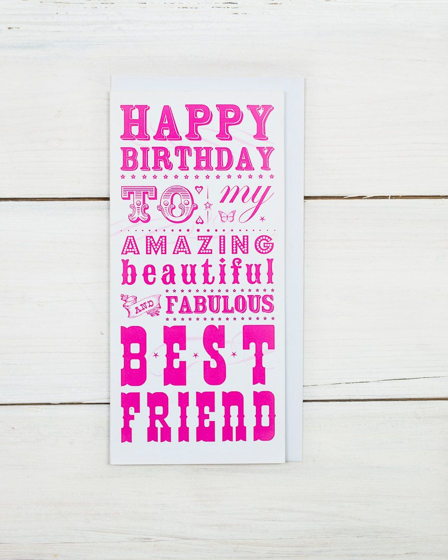 Happy Birthday Best Friend Card Happy birthday