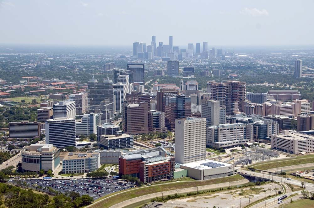 Skyview of the Texas Medical Center. One of the finest