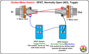 Mute Switch, SPST, Normally Open, Toggle Wiring Diagram
