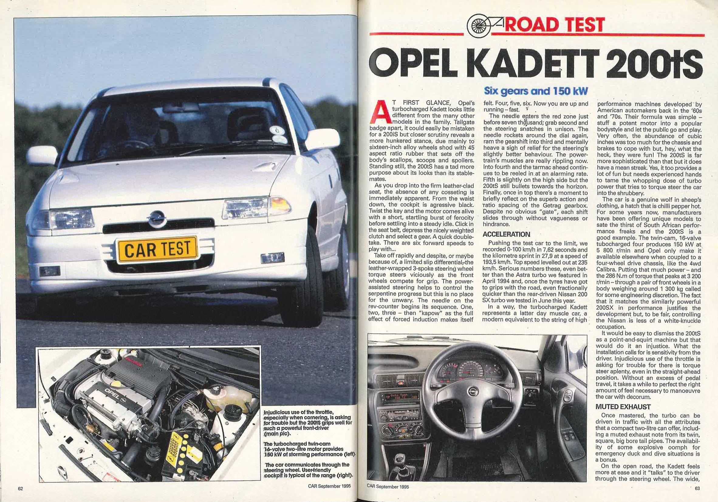 Opel Kadett 200 ts CARmag.co.za Cars South African