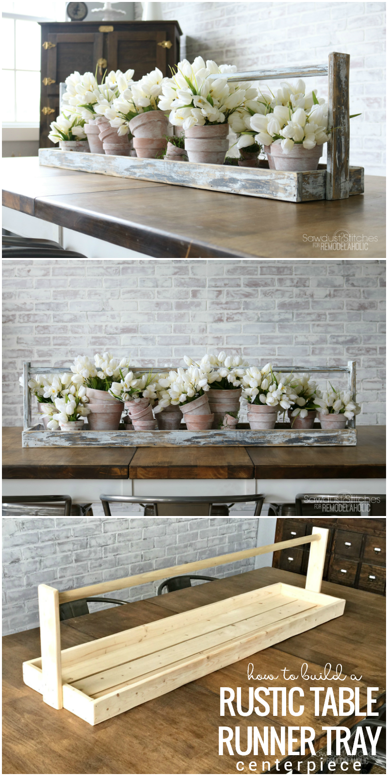 How To Build A Rustic Table Runner Tray Centerpiece