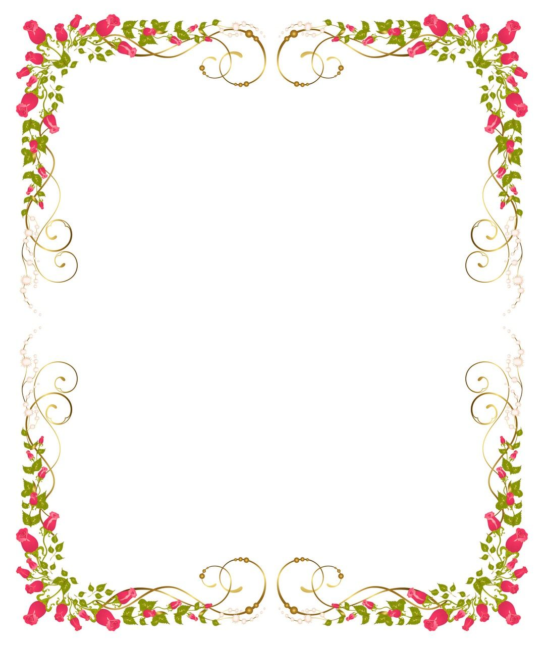 Flower Background, Frame 09 Vector EPS Free Download, Logo