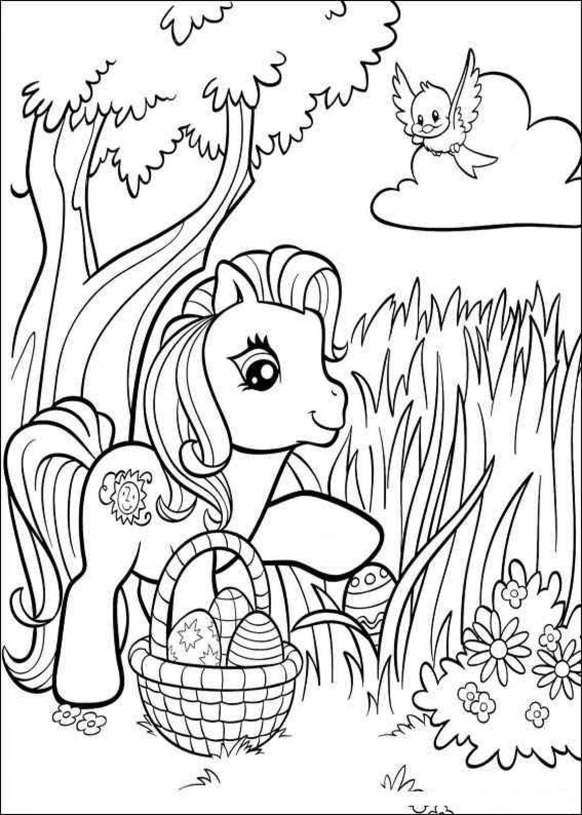 Easter My Little Pony Best Printable Coloring Pages