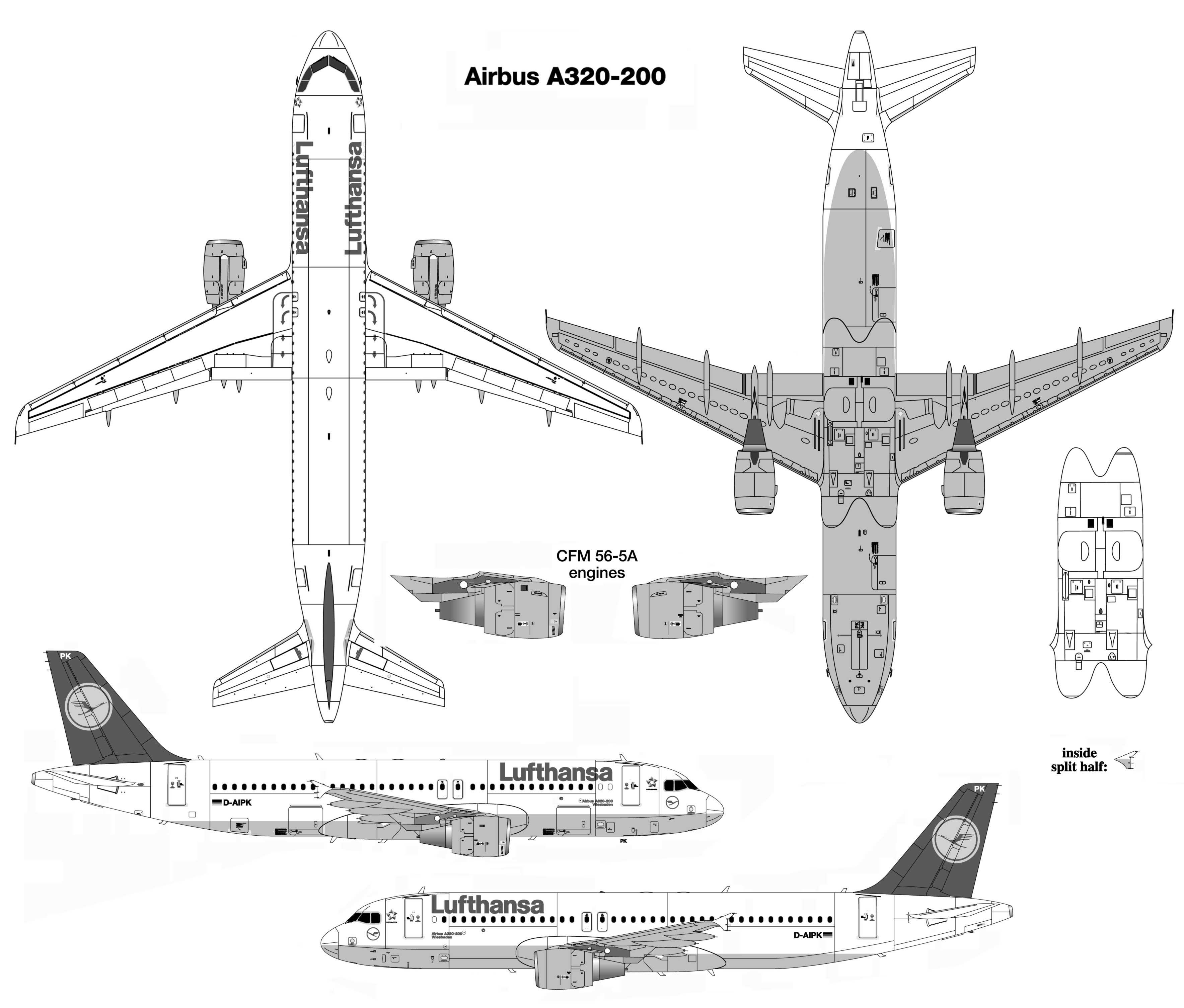 Crj Aircraft Schematic View