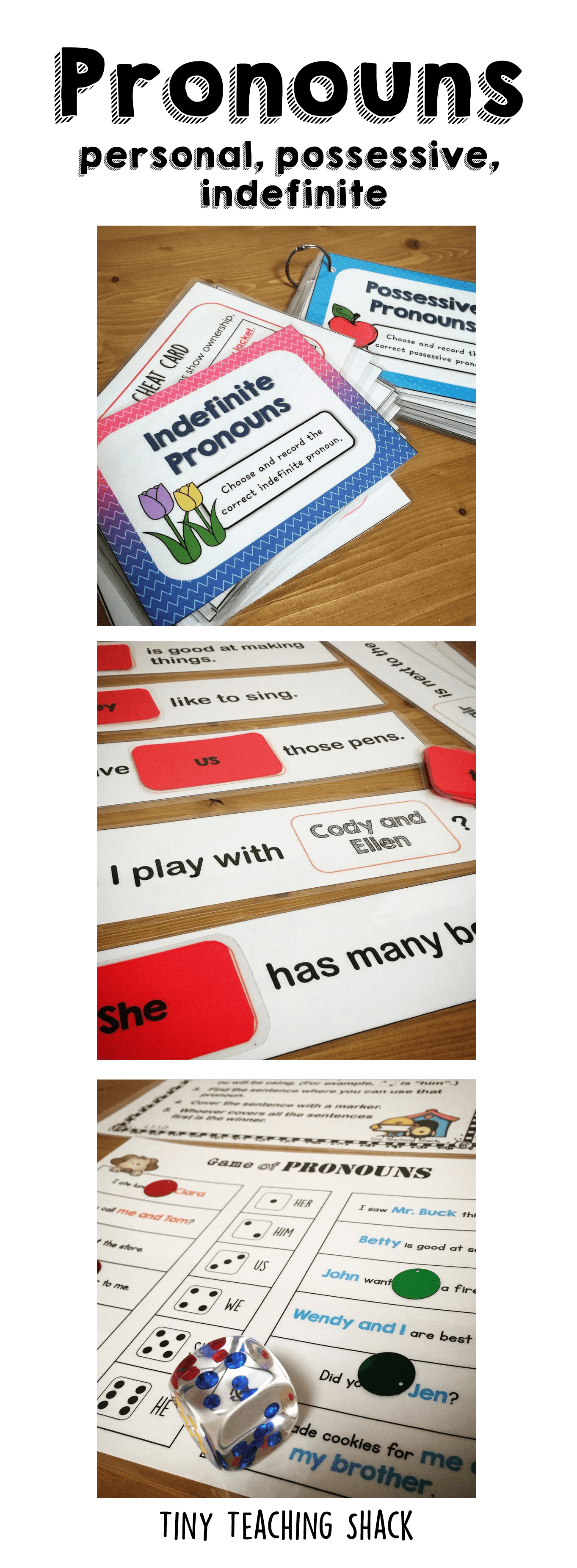 Pronoun Literacy Center Ideas And Worksheets First Grade Grammar Activities Personal