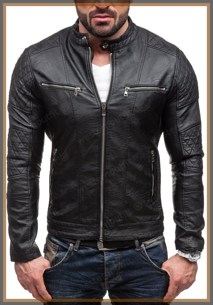Details about NEW STYLE LAMBSKIN BLACK LEATHER BOMBER