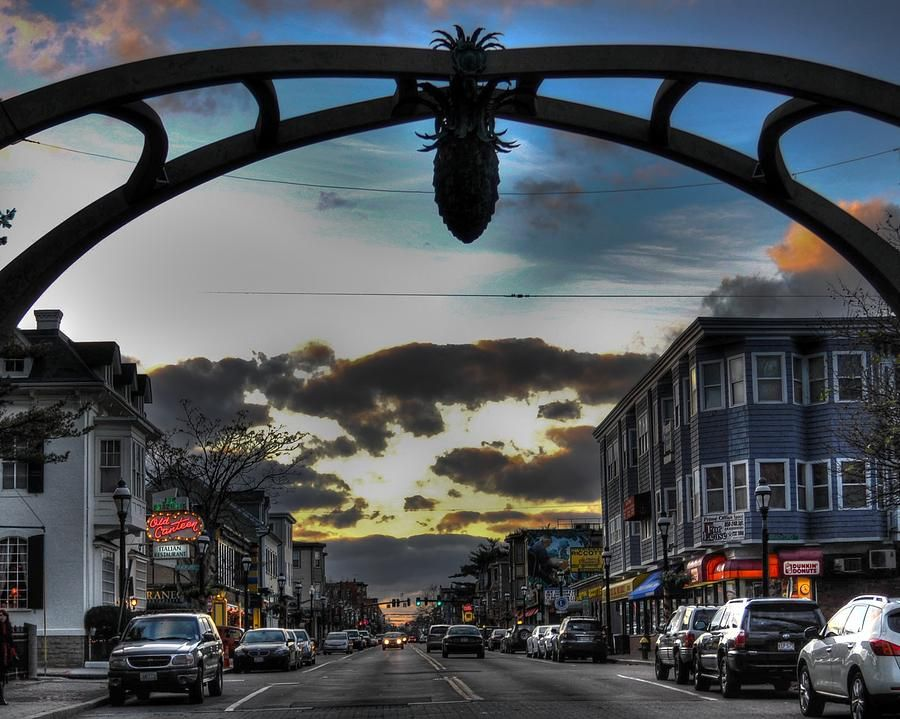 The pignola hangs over Atwells Ave, the gateway to Federal