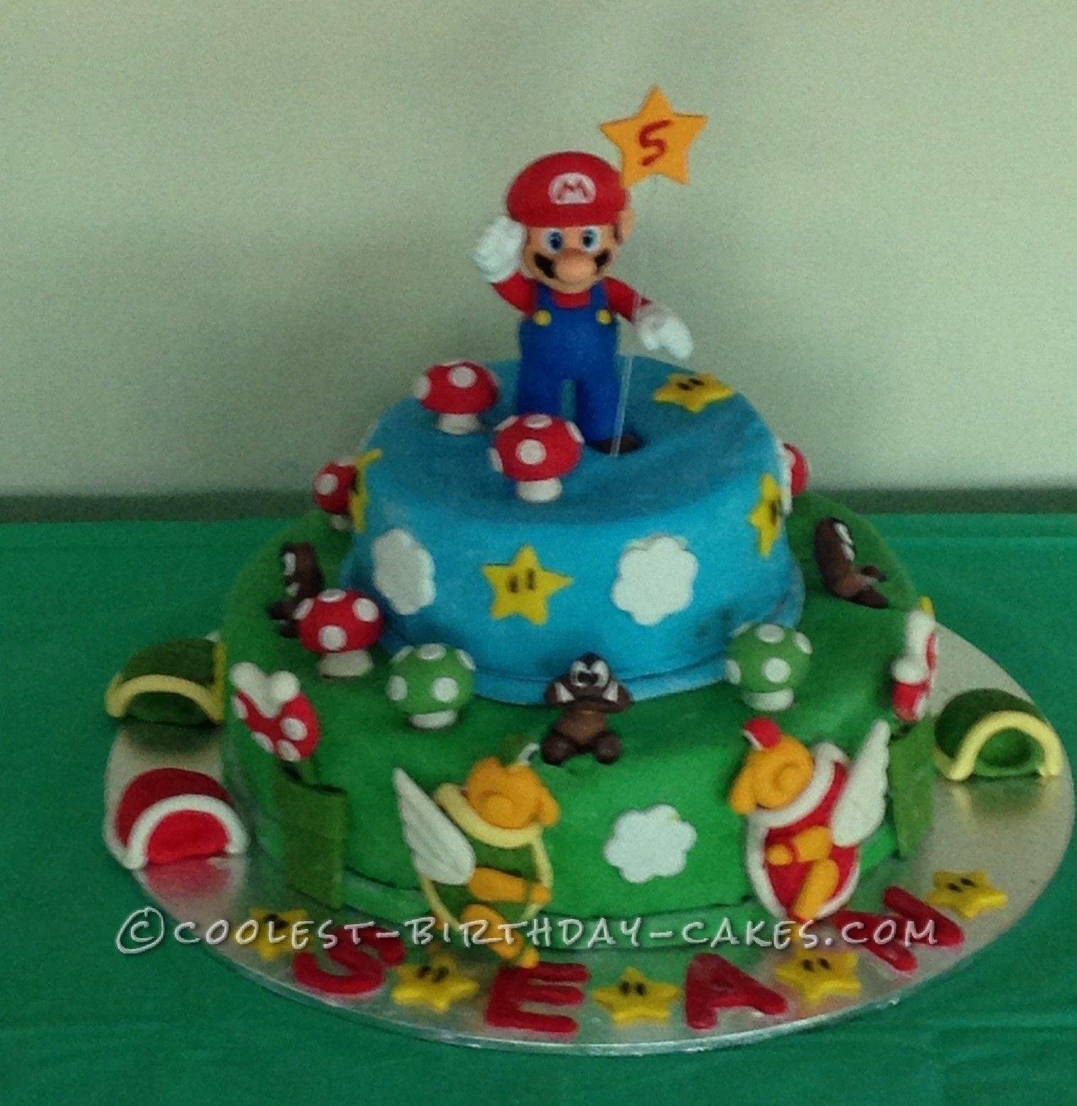 Coolest Super Mario Birthday Cake