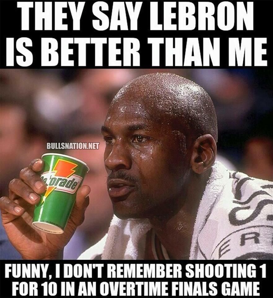 NBA Memes on Michael jordan, LeBron James and NBA