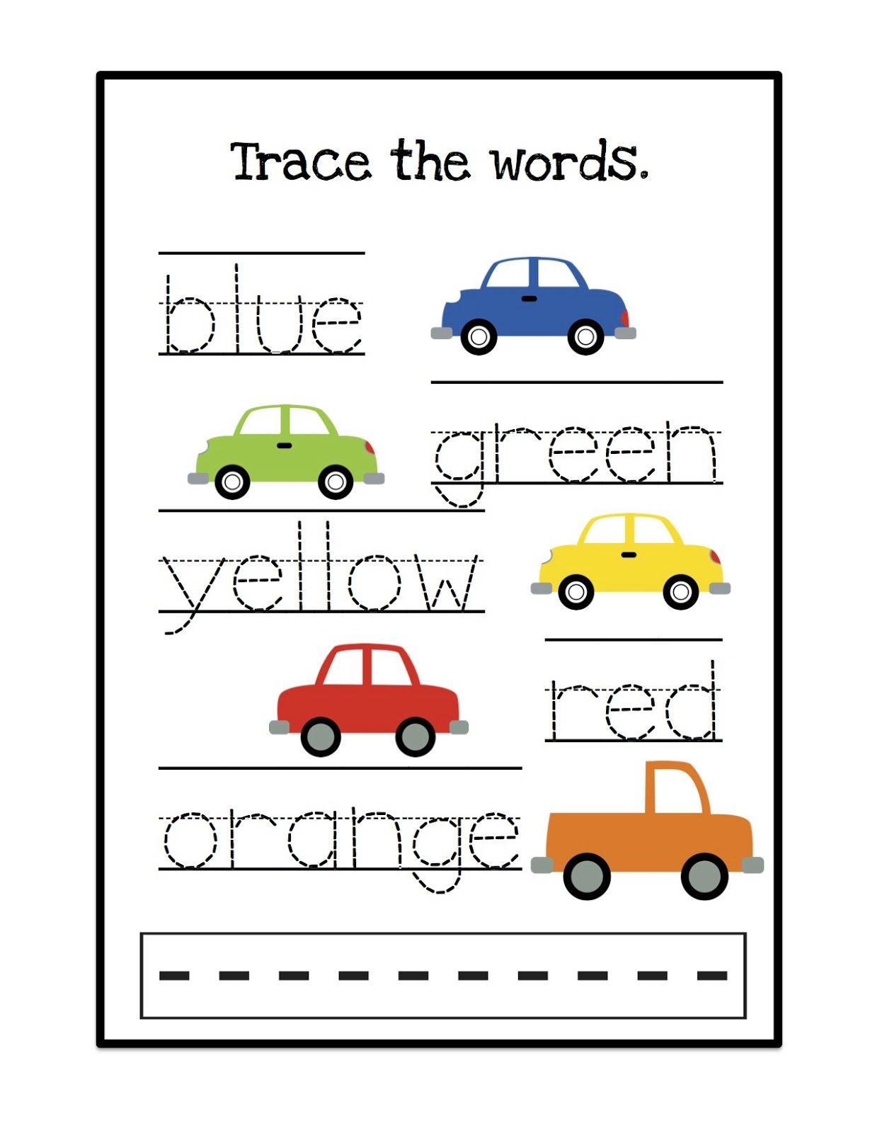 Environment Word Tracing Worksheet For Preschoolers