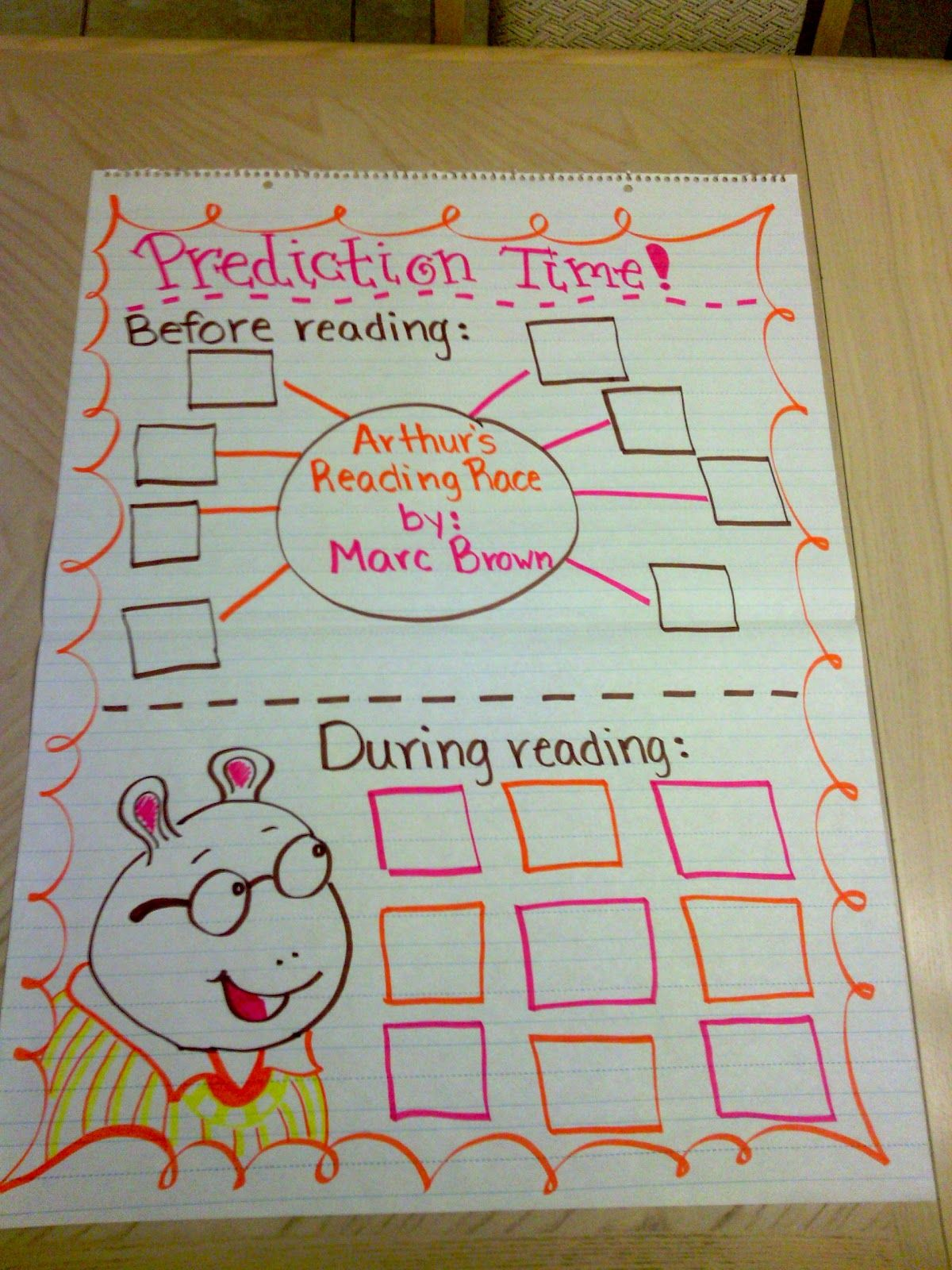 Anchor Chart Reading Chart Arthur S Reading Race