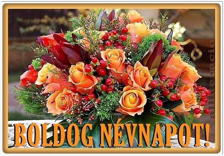 névnap, képek, képeslap, virágok, köszöntő, kovacslerti