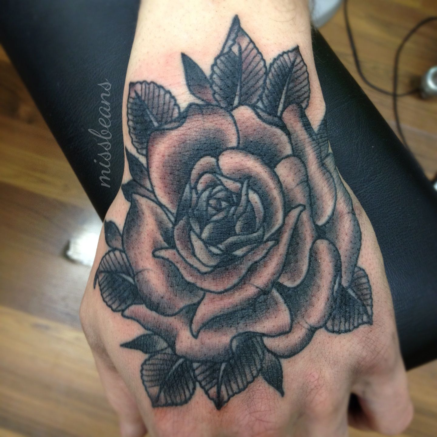 Rose Hand Tattoos Images & Pictures Becuo Rose Hand