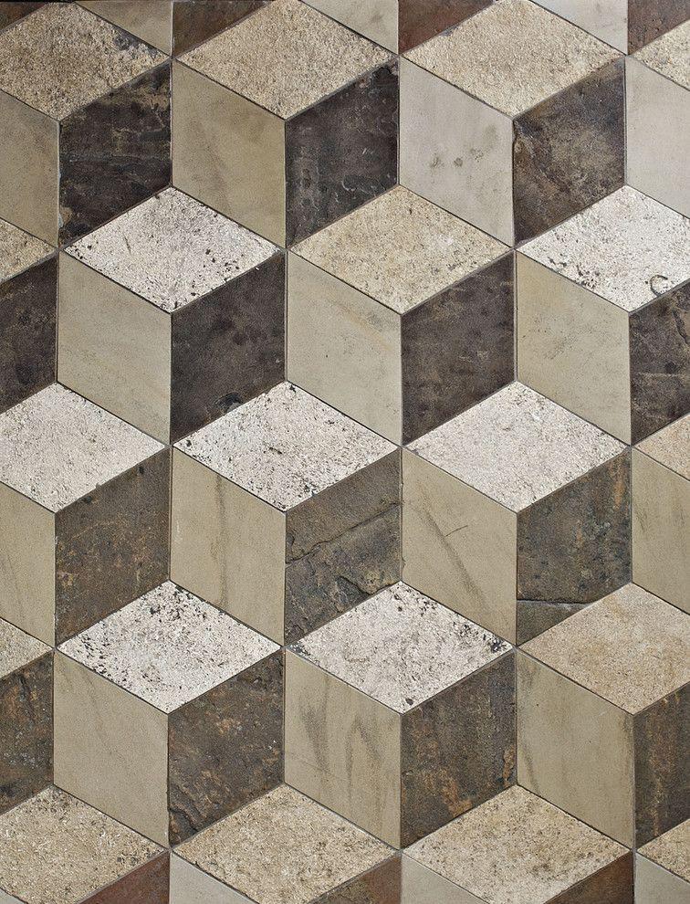 Antique Reclaimed 3D Floor Tiles Antique