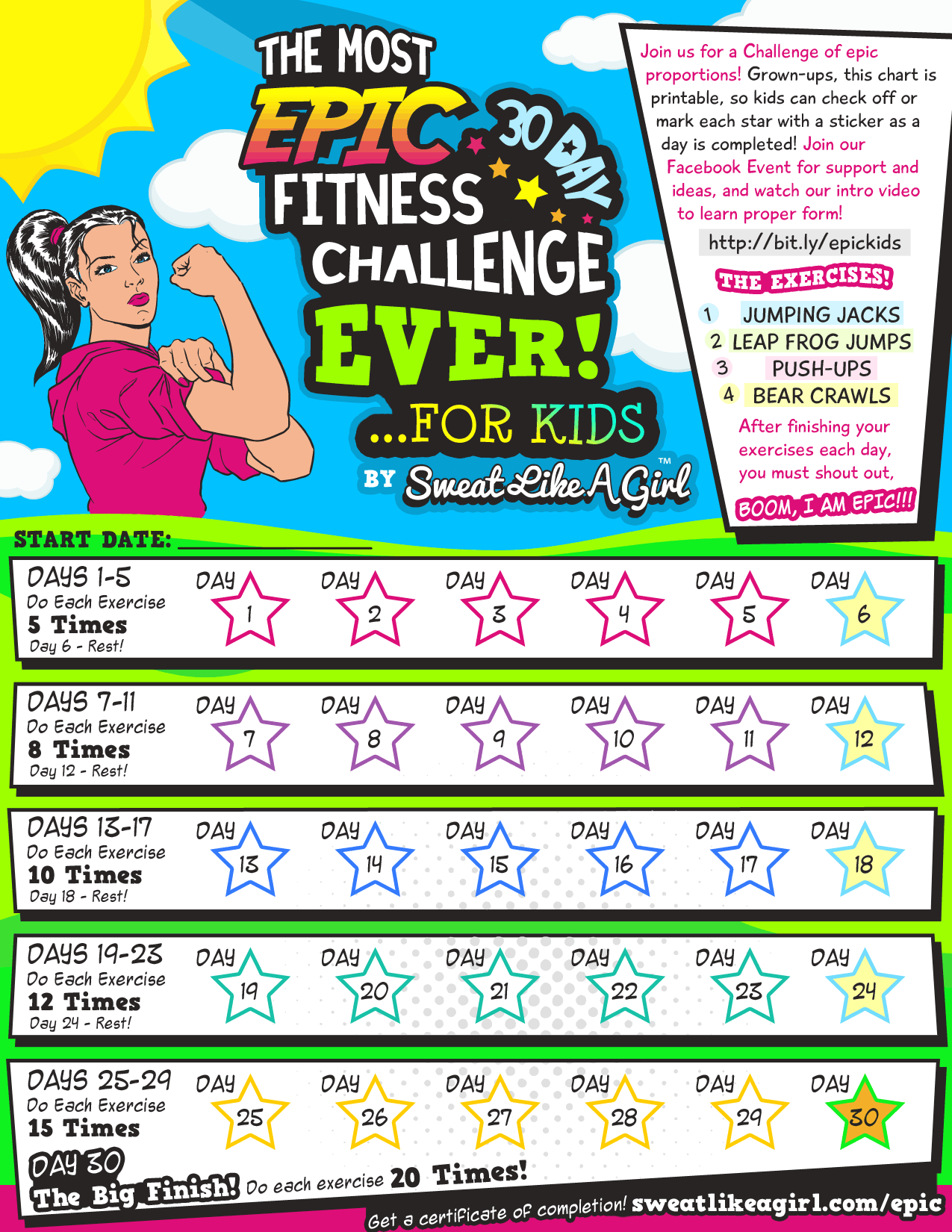 30 Day Fitness Challenge For Kids