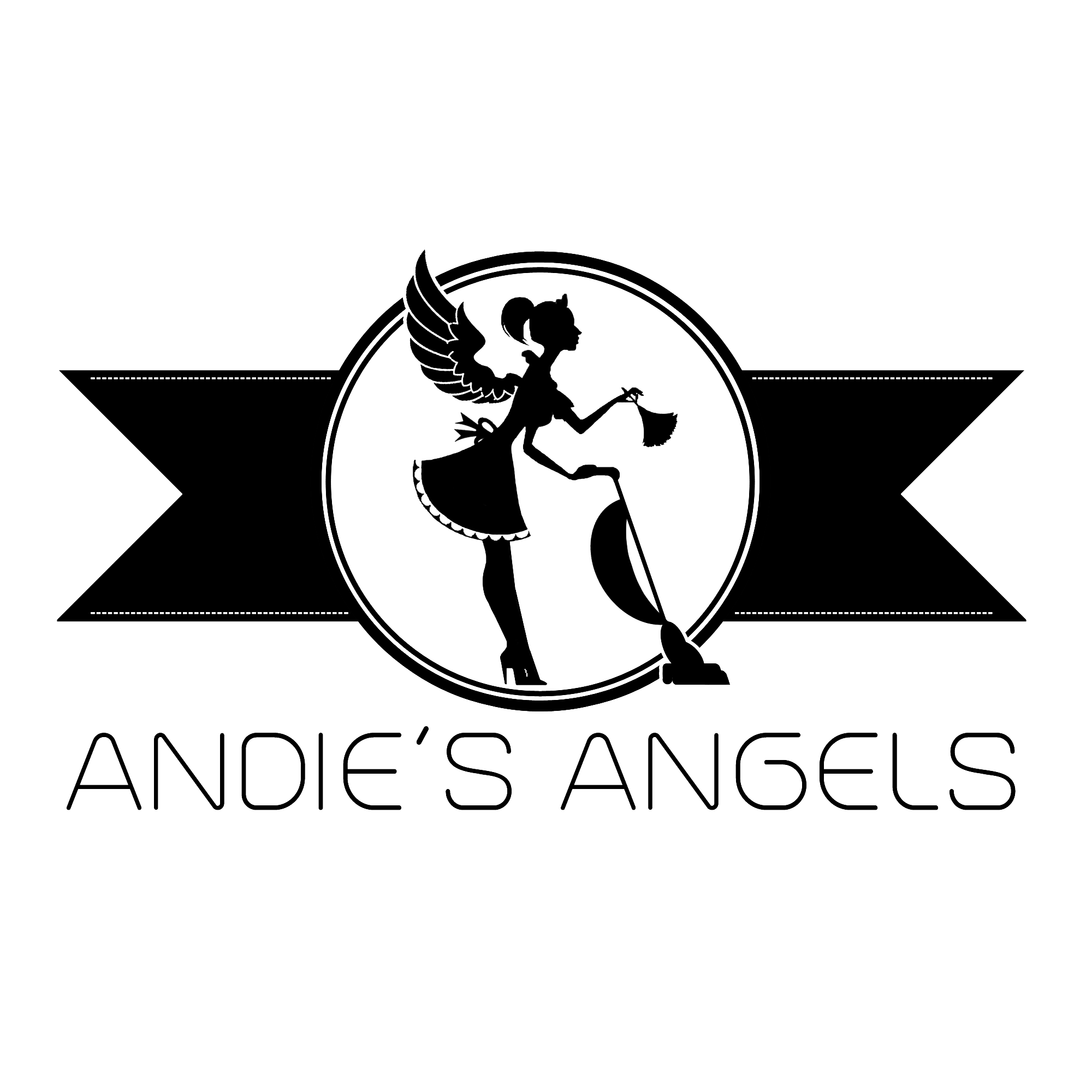 Andie's Angels Cleaning & Maid Service Logo Design