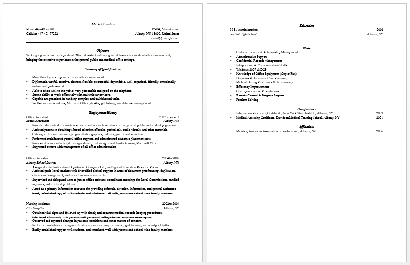 Dental Assistant Resume Examples No Experience. Administrative