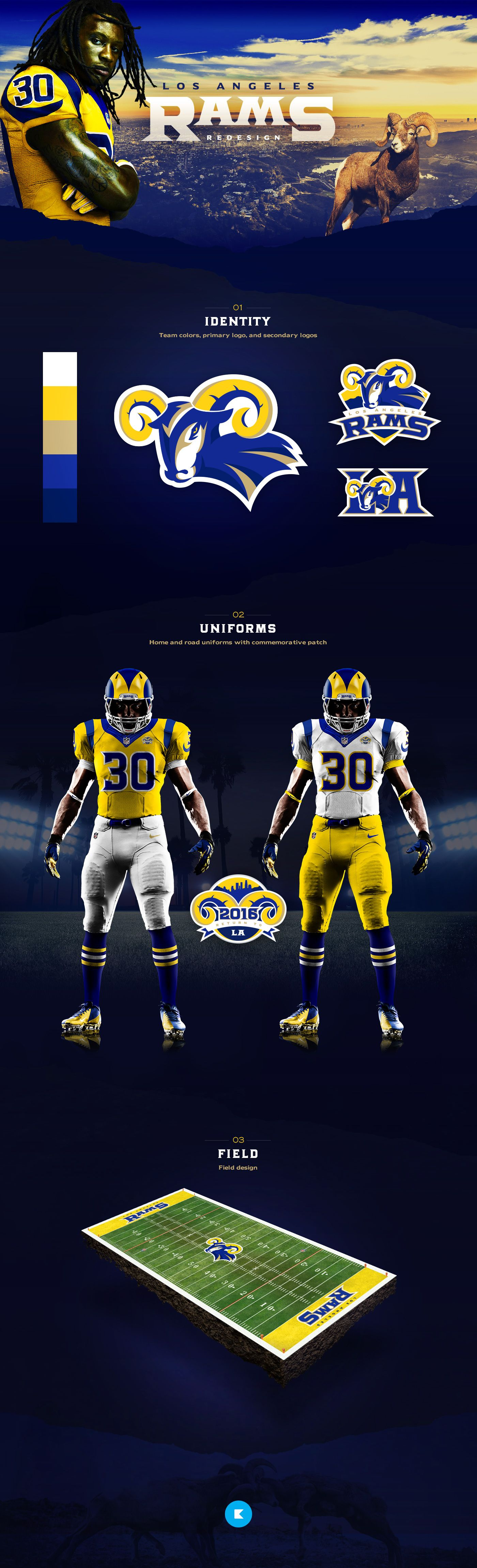Los Angeles Rams on Behance Mascot Branding And Logos
