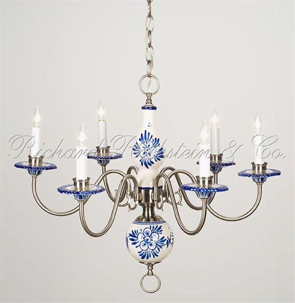 Beautiful Delft Chandelier
