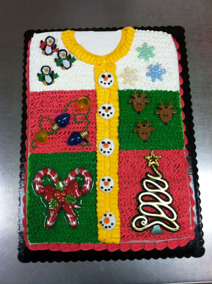 Ugly sweater cake ) cake,cupcake,cookie cake decorating