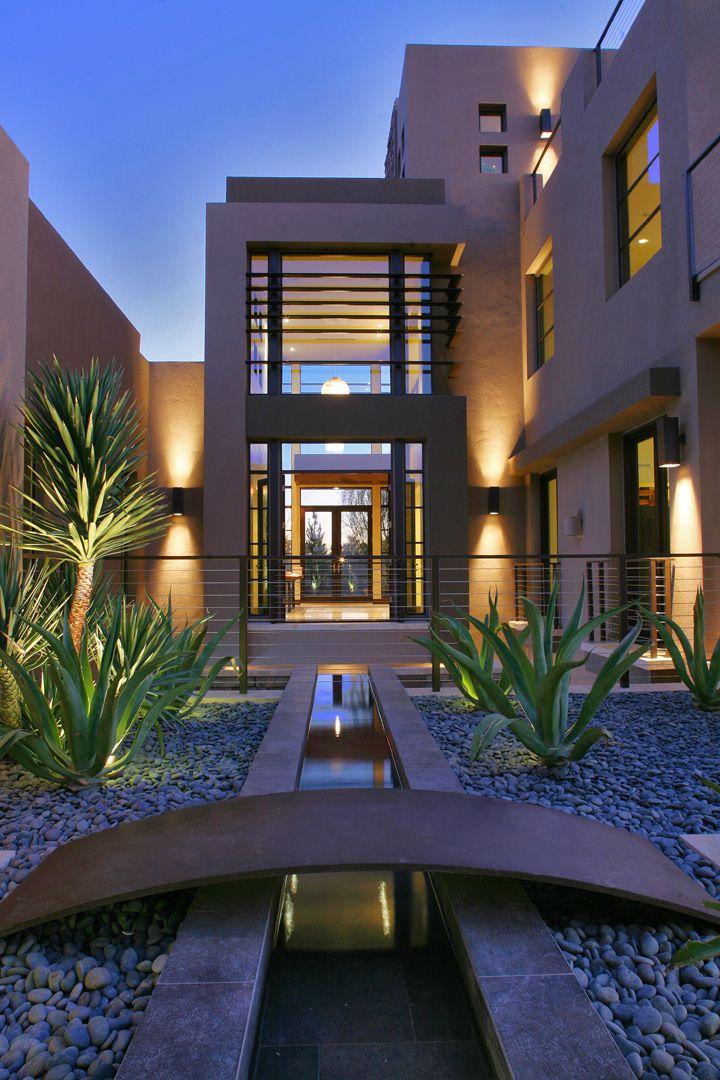 Contemporary home development in Las Vegas   Stair rails ...