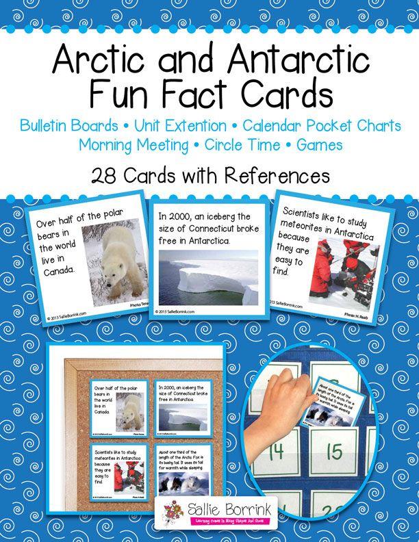 Arctic and Antarctic Fun Facts Cards Pumpkin cards