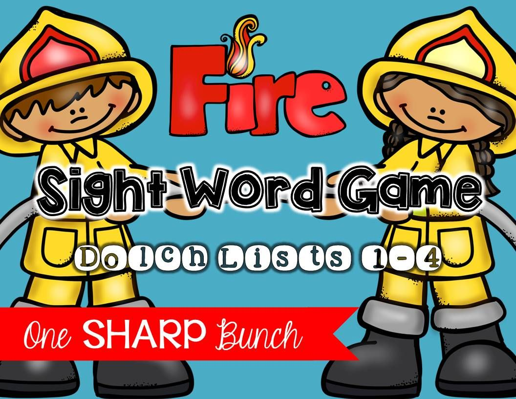 Fire Safety Sight Word Game