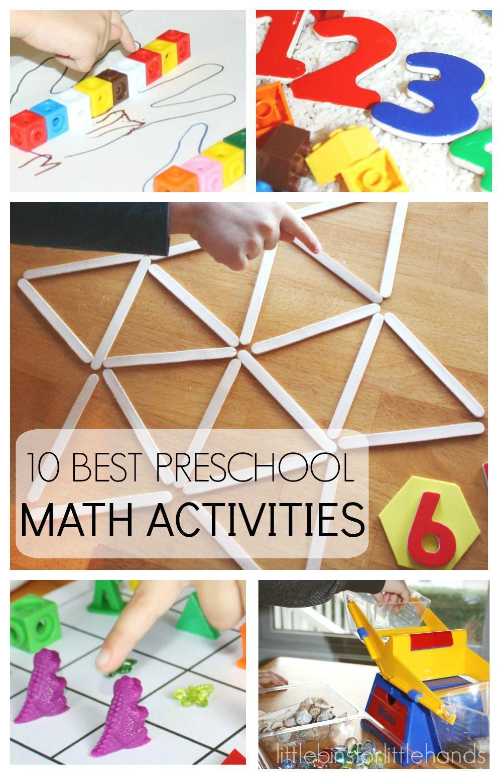 Preschool Math Activities for Back to School Early