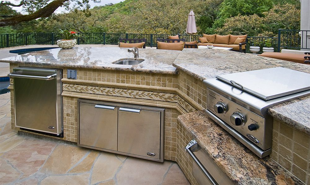 outdoor barbecue kitchen islands Custom Gourmet Galley