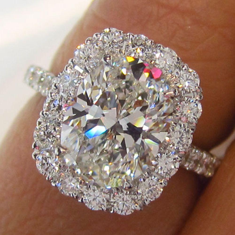 Oval Halo Diamond Ring New York Jevel Wedding