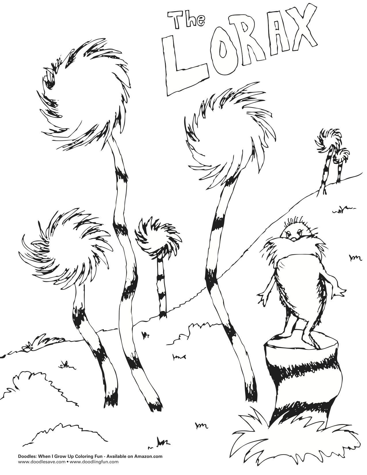 Free Worksheet Lorax Worksheets the lorax coloring pages unless free on printables worksheets preschool