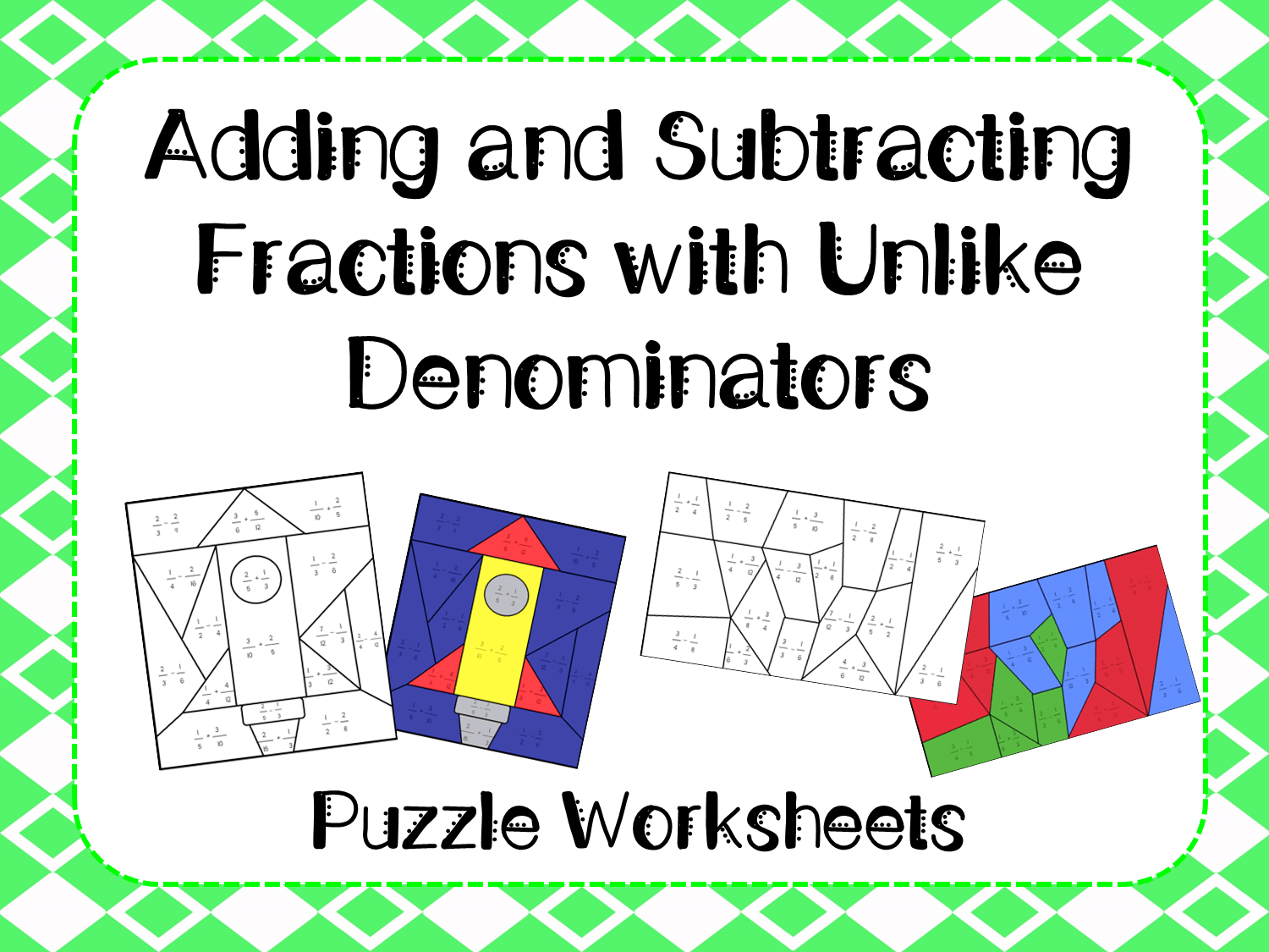 Lesson Plan Adding And Subtracting Fractions With Unlike Denominators