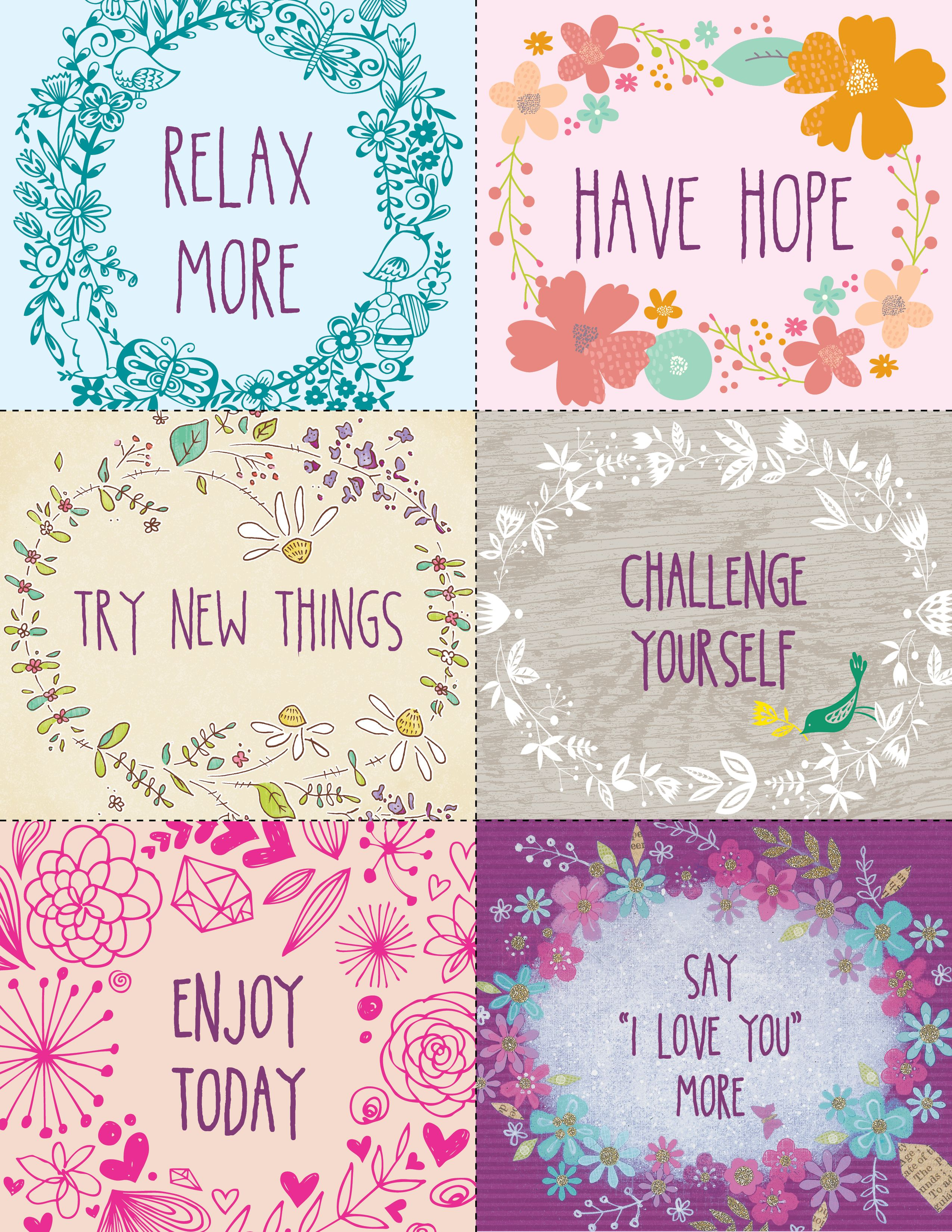 New Years Resolutions Inspirational, Free printable and