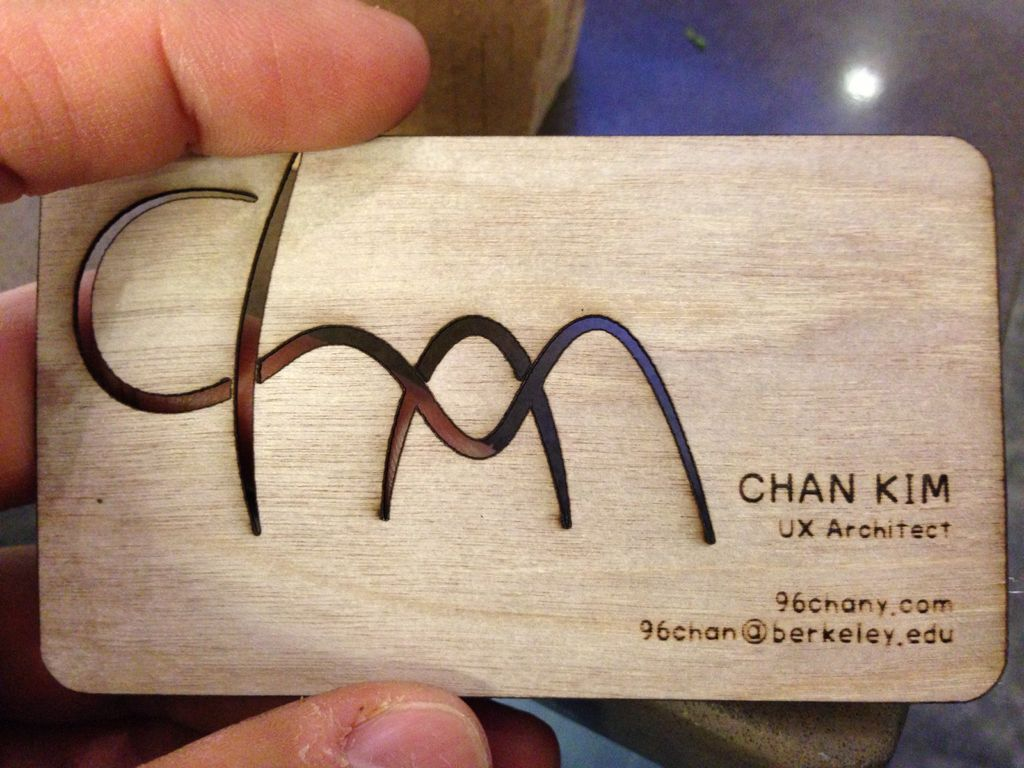 DIY Your Business Cards Plywood, Business cards and