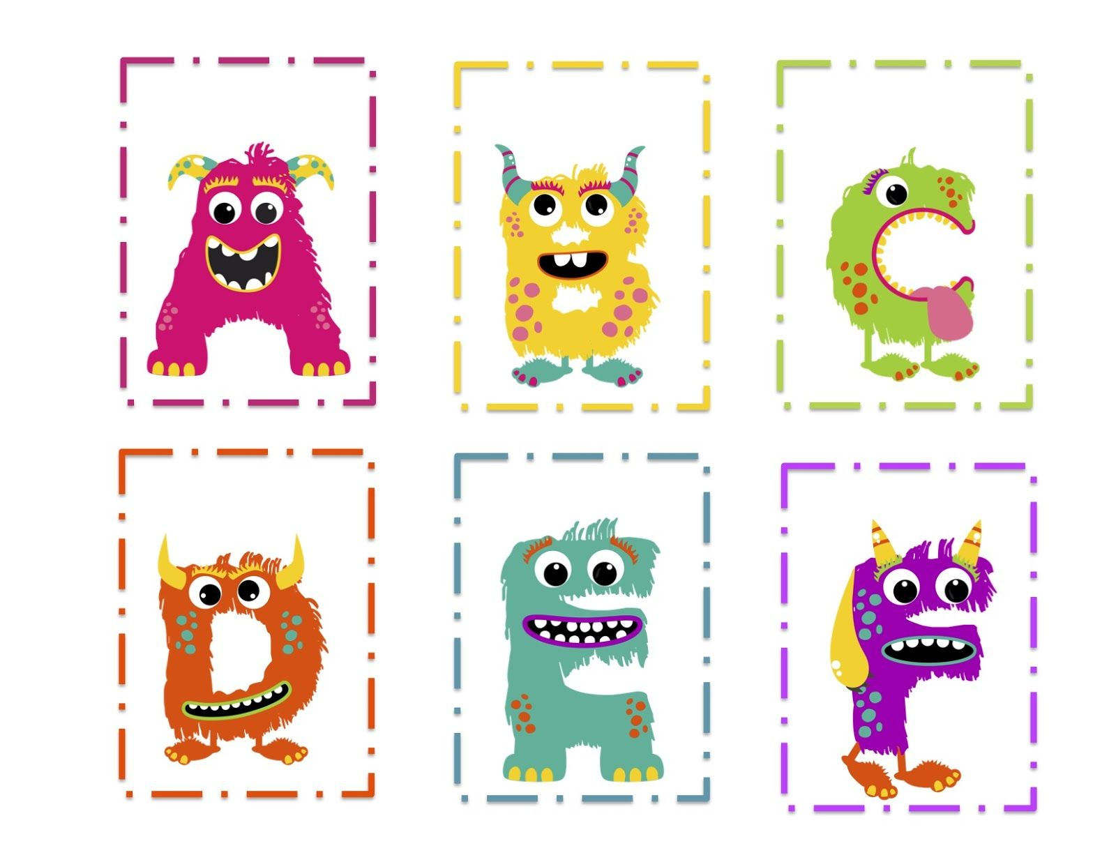 Preschool Printables Monsters This Site Has A Good