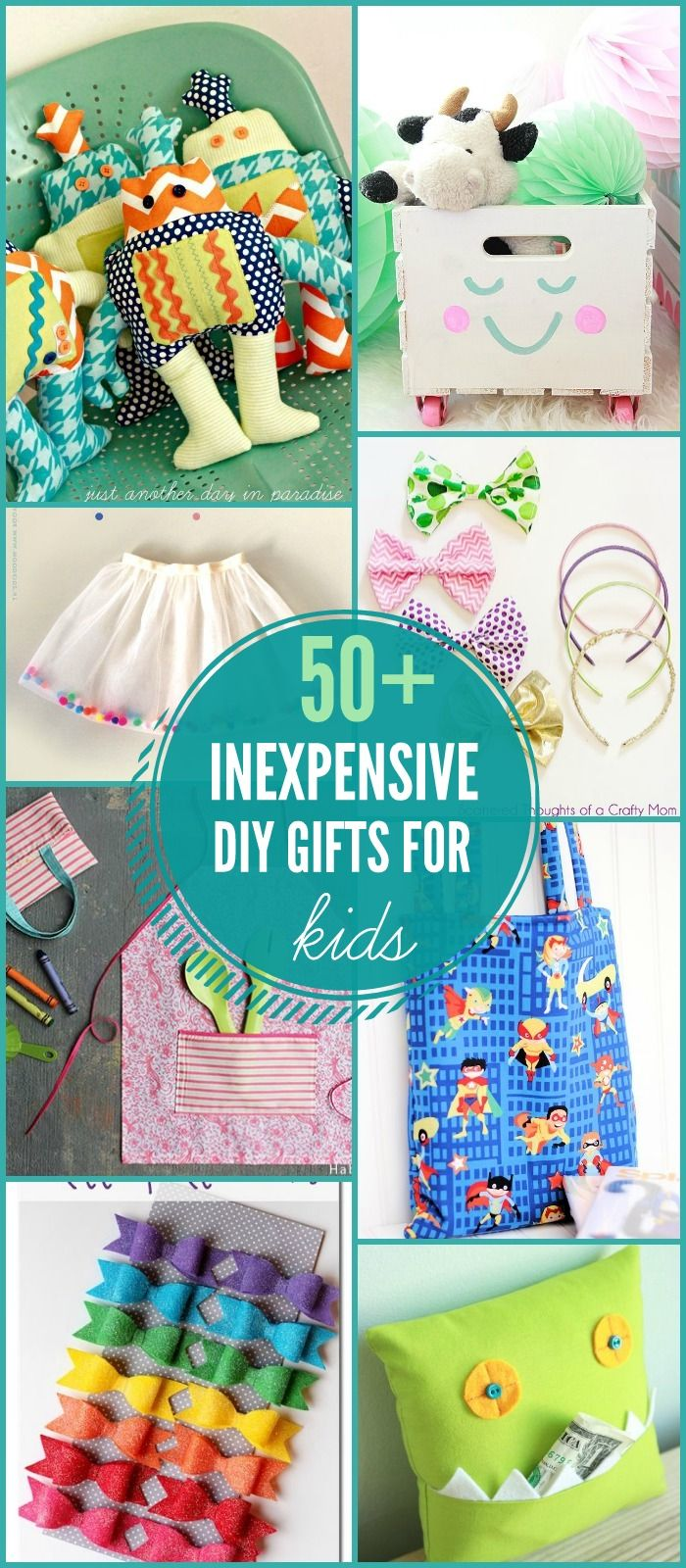 50+ DIY Gift Ideas for Kids on { } Lots of