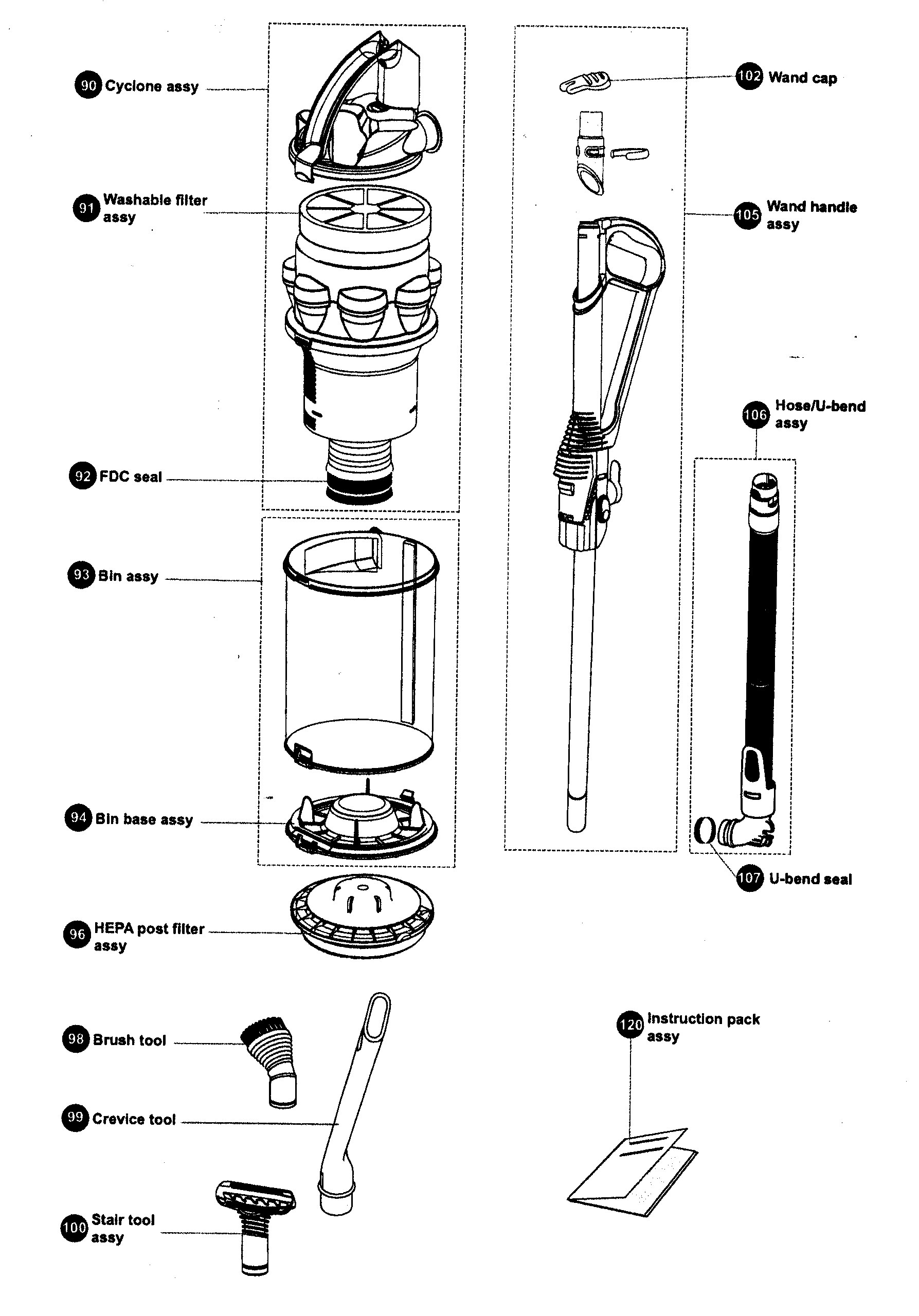Miele Vacuum S246i Parts Diagram