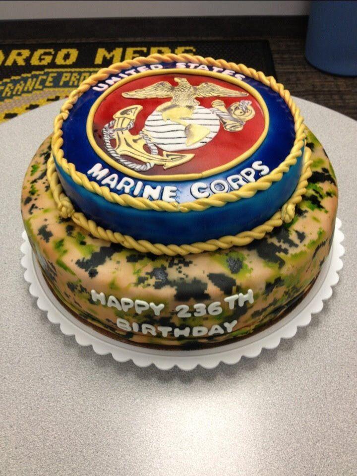 Marine Corps Birthday Cake Military Cakes Pinterest