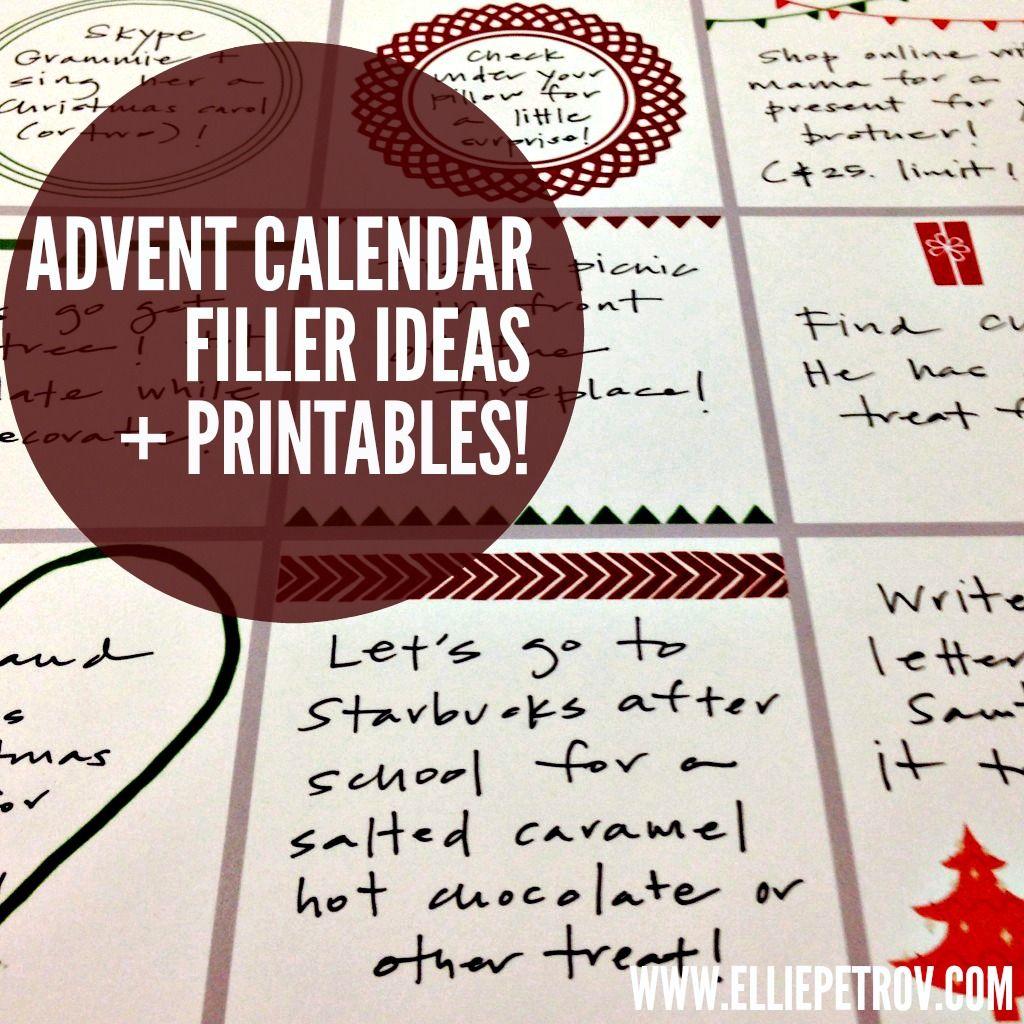 Advent Calendar Filler Ideas And Printables
