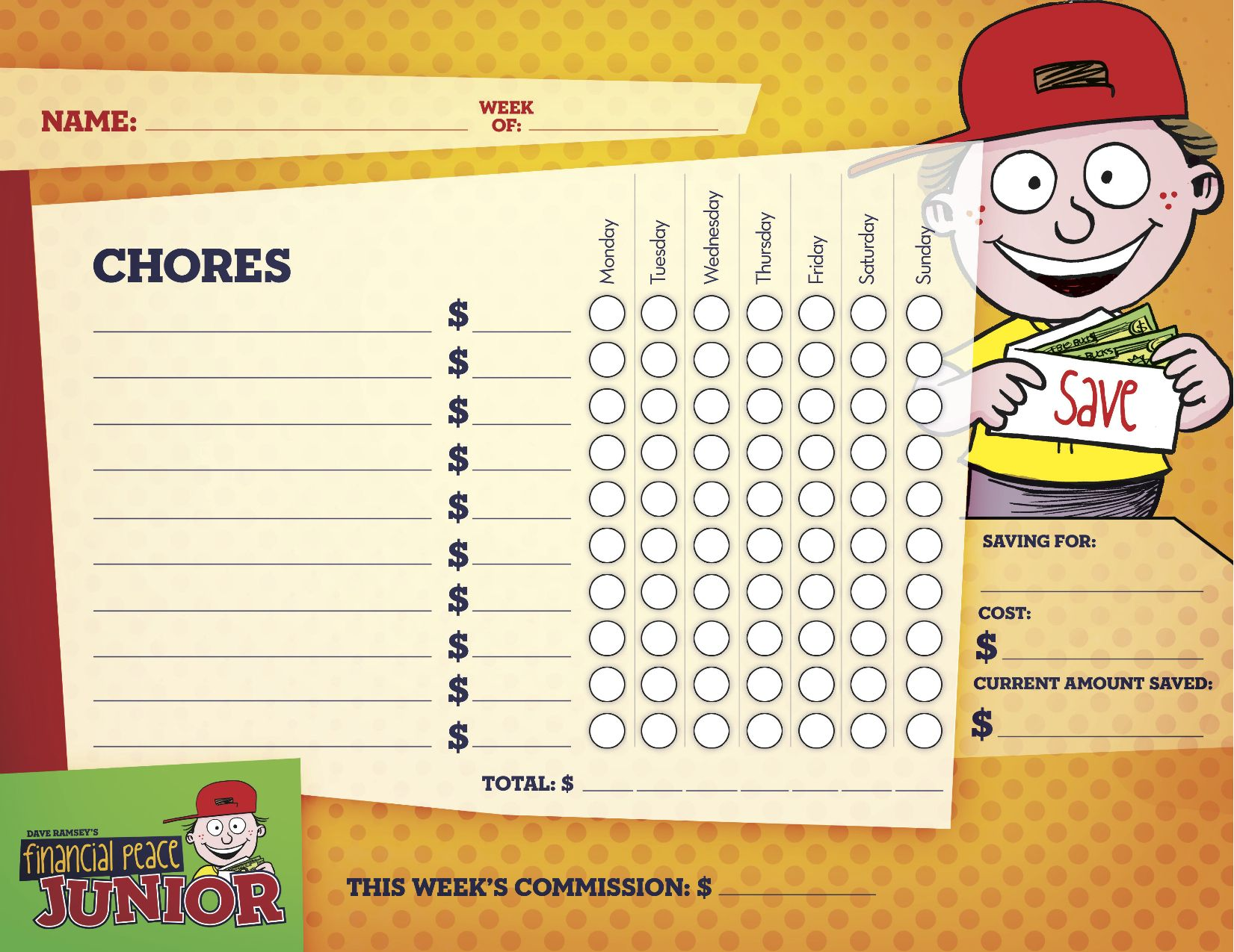 Dave Ramsey Kids Chore Chart