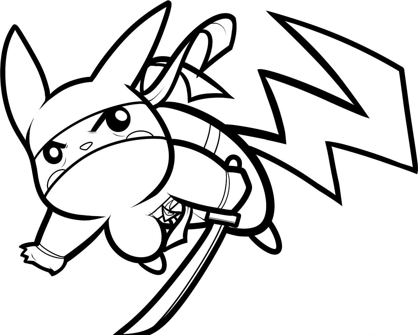Ninja Pikachu Coloring Page Pokemon Pinterest Kids