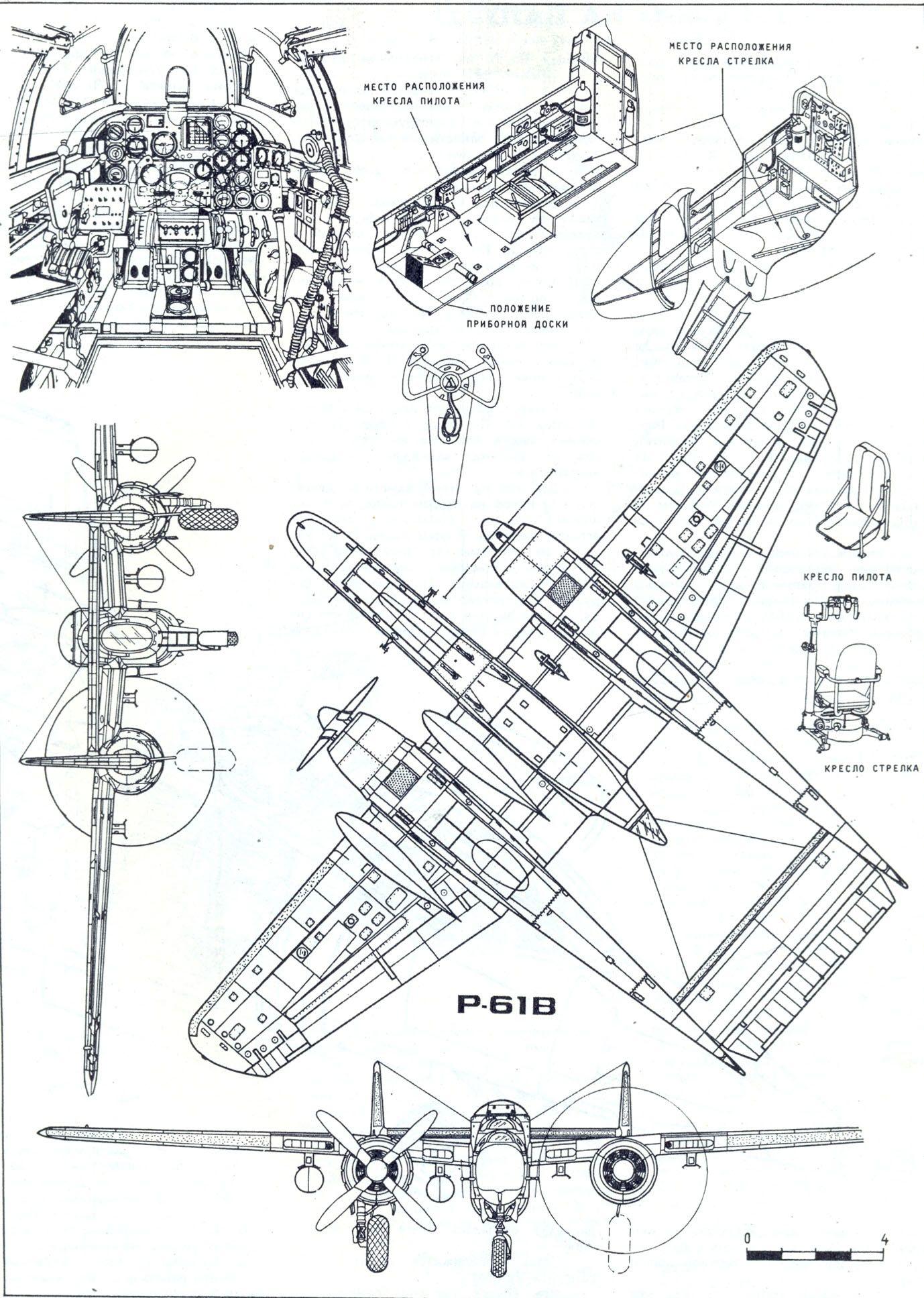 P 61 Black Widow Blueprint