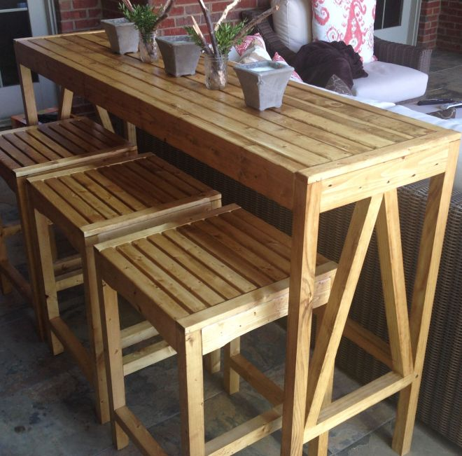 Build your own diy sutton custom outdoor bar stools with